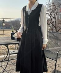 Pomi double-sided pleated dress