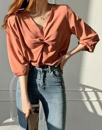 Silky Soul Twisted Blouse
