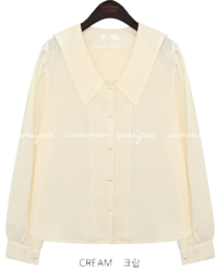 COCOMI PEARL SAILOR COLLAR BLOUSE