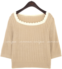 GOLGI LACE SQUARE NECK KNIT