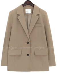 Notch Collar Two-Button Front Jacket WITH CELEBRITY