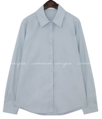 DEMURE UNBAL BASIC COTTON SHIRTS ブラウス