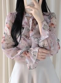 Edel flower sheer blouse