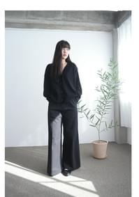 cotton banding wide maxi pants (2colors)