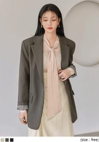 POCKET POINT ONE BUTTON JACKET