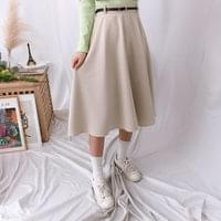 Grid check long skirt (sk0467)