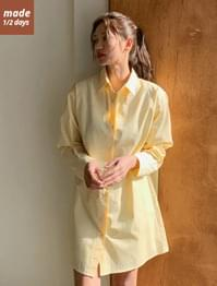 Cotton loose-fit shirt dress