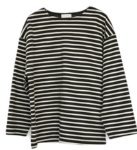 stripe basic top 長袖