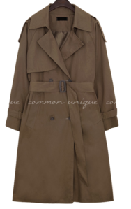 MOHABI DOUBLE TRENCH COAT 大衣外套
