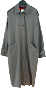 ecru mood cotton trench coat