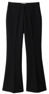 Rodelin line bootcut slacks pants