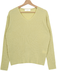 Loreni Zan Cable V Neck Knit