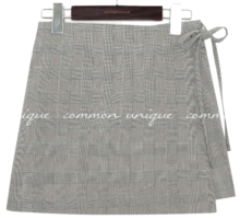 CAMELA CHECK SET-UP PANTS SKIRT