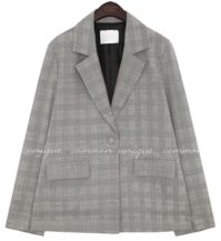 CAMELA CHECK SET-UP SINGLE JACKET