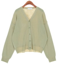 Bubble v neck cardigan