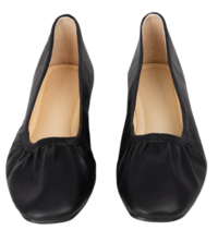 ESSAYSolid Color Leatherette Flats