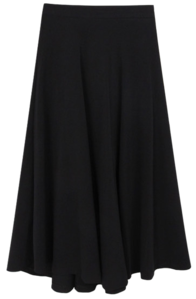 Flared long skirt skirt