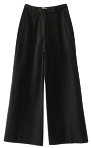 cotton banding wide maxi pants