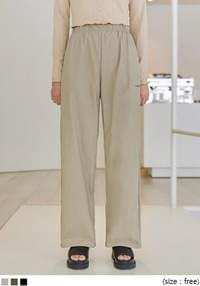 UMI LETTERING WIDE WOVEN PANTS