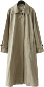 natural raglan trench coat