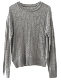 flat point twist knit