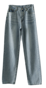 washing maxi denim pants