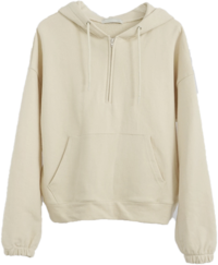 casual cotton hood