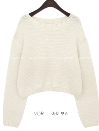 HAZY LOOSE FIT CROP KNIT
