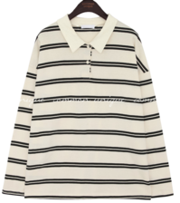 BROD DOUBLE STRIPE COLLAR T