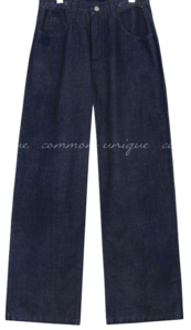 TAVI BUTTON WIDE DENIM PANTS