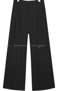 BURREN PINTUCK WIDE SLACKS
