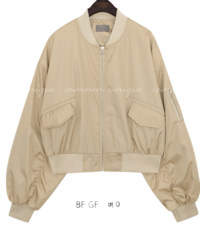 FRUN SHIRRING BOMBER JUMPER