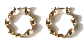 LENISION TWIST RING EARRING 耳環