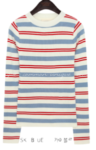 PONDI GOLGI COLORING STRIPE KNIT