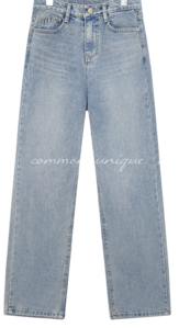 Washed Mid Rise Jeans