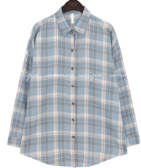 JEFFREY CHECK LOOSE FIT SHIRTS