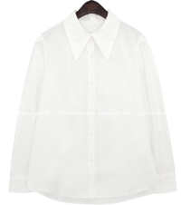 HEBA PINTUCK SHARP COLLAR SHIRTS