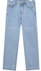 MOODBIN STRAIGHT DENIM PANTS