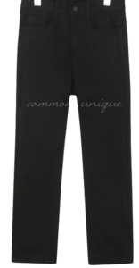 Mid Rise Straight Cotton-Blend Pants