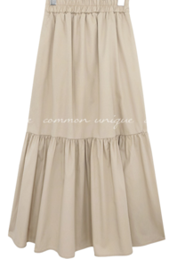 AIDA SHIRRING BANDING LONG SKIRT