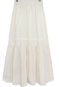 Shirred Waist Long Skirt