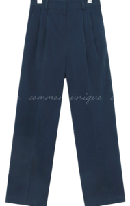 LOGAN BANDING WIDE COTTON PANTS