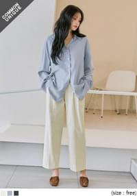 Loose Fit Extended Sleeve BlouseWITH CELEBRITY