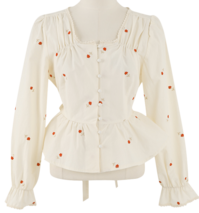 flower pattern square blouse_P