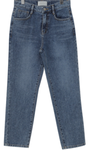 Mean crop denim pants_A