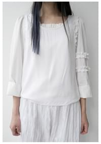 clean one side frill sleeveless