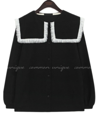 GOLGI LACE SAILOR COLLAR CARDIGAN