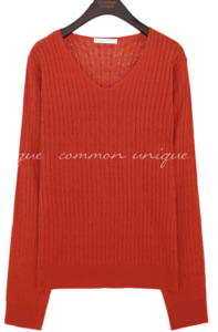 BENT TWIST V NECK KNIT knitwears