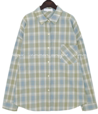 HATIN POCKET CHECK LOOSE FIT SHIRTS