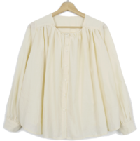 French cotton shirring blouse